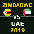 UAE tour of Zimbabwe 2019