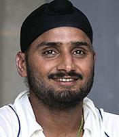 Harbhajan Singh took 2 for 18 in 4 overs
