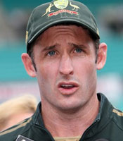 Michael Hussey top scored for Australia