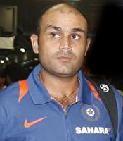 Virender Sehwag got the Man of the Match award